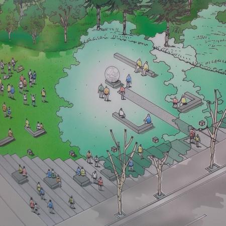 Földanya szobor tervezett helyszíne